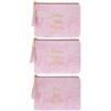 Pink Marble Purse 3 Assorted