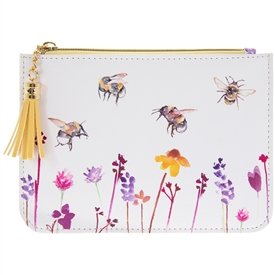 Faux Leather Busy Bees Coin Purse
