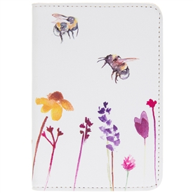 Faux Leather Busy Bees Passport Holder