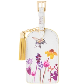 Busy Bees Faux Leather Luggage Tag With Tassel