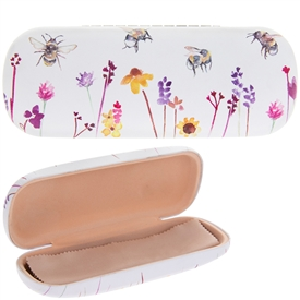 Busy Bees Faul Leather Glasses Case