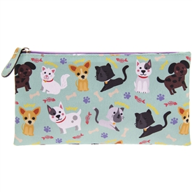 Blue Pencil Case with a Cats & Dogs Design