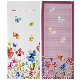 Butterfly Shopping List Pad