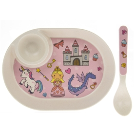 Fairytale Egg Plate And Spoon