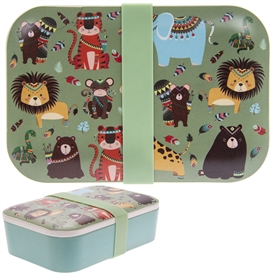 Children's Bamboo Lunch Box Jungle