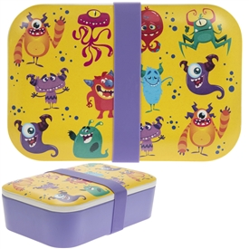 Children's Bamboo Lunch Box Monsters