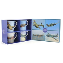 Set of 4 Vintage Plane Mugs