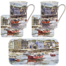 Old Harbour Mug Tray And Coaster Set