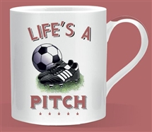 Lifes a Pitch Football Mug