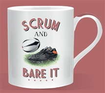 Scrum and Bare It Rugby Mug