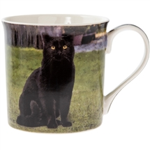 Black Cat Mug 12cm