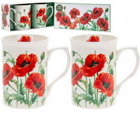 Set Of 2 Poppy Mugs
