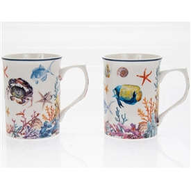 Set Of 2 Sealife Mugs