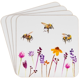 Cork Busy Bees Coasters Set of 4