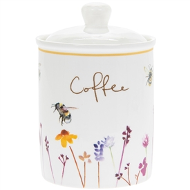 Ceramic Busy Bees Coffee Canister