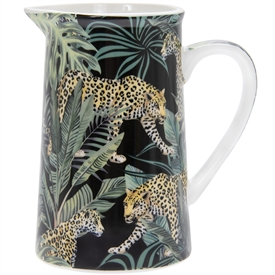 Orange and Green Ceramic Jug with a Jungle Fever Design