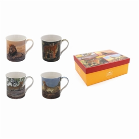 Safari Cats Mug Set