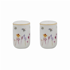 Salt and Pepper Set with Busy Bees Design