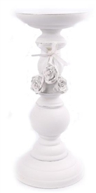 Candlestick With Roses 25cm