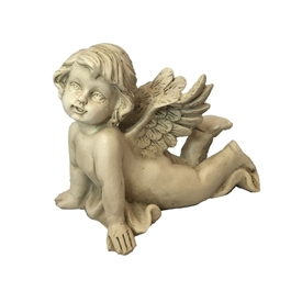 10cm Lying Cherub Stretching