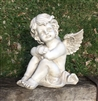 REDUCED, LIMITED TIME ONLY<p>26cm Sitting Cherub Head on Arms
