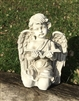 31cm Kneeling Cherub Reading Book