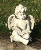 REDUCED, LIMITED TIME ONLY<p>26cm Sitting Cherub Reading Book