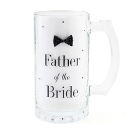 Mad Dots Glass Father Of The Bride Tankard