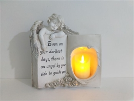 Angel Memoral Book With LED Candle