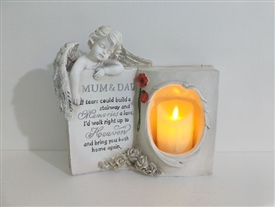 Mum And Dad Memoral Book With LED Candle