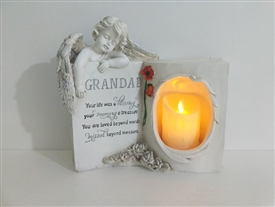 Grandad Memoral Book With LED Candle