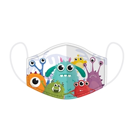 Monsters Reusable Face Mask Ages 4-12