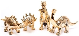 Gold Dolomite Dinosaur Money Box with 4 Assorted Designs