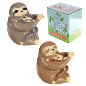 Sloth and Baby Money Box 2 Asst