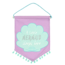 REDUCED Mermaid Sleeps Here Flag