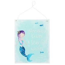 REDUCED Mermaid Kisses Metal Sign