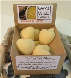 Box of 20 Soy Wax Melts - Cinnamon And Orange