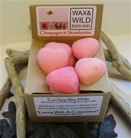 Box of 20 Soy Wax Melts - Champagne & Strawberries