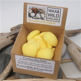 Box of 20 Soy Wax Melts - Sandalwood and Musk