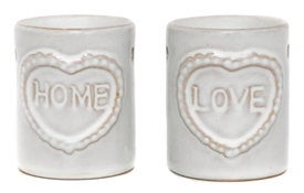 Ceramic Home And Love Burners 2 Assorted 8cm