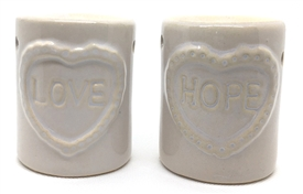 Ceramic Hope And Love Burners 2 Assorted 8cm