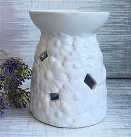 Ceramic Daisy Flower Oil Burner 12cm