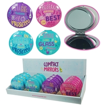REDUCED Prosecco Compact Mirror 4 Assorted