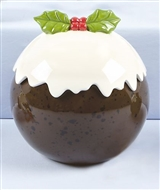 Christmas Pudding Cookie Jar 21cm