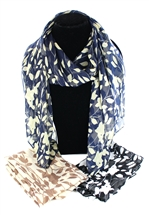 Floral Pattern Scarf 2 Asst