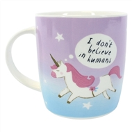 Dont Believe In Humans Unicorn Mug
