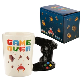 'Game Over' Novelty Mug With Controller Style Handle
