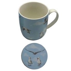 Seagull Mug And Coaster Set