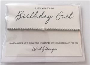 Metal Wish Strings Bracelet Birthday Girl