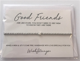 Metal Wish Strings Bracelet Good Friends